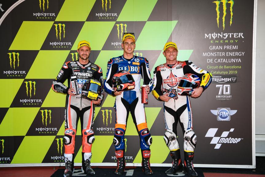 Augusto Fernandez, Tom Luthi, Sam Lowes, Gran Premi Monster Energy de Catalunya