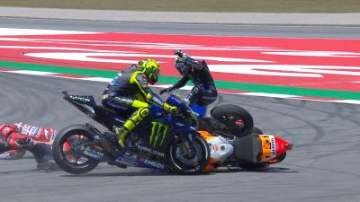 FREE: Watch Lorenzo's crash in Catalunya from all angles
