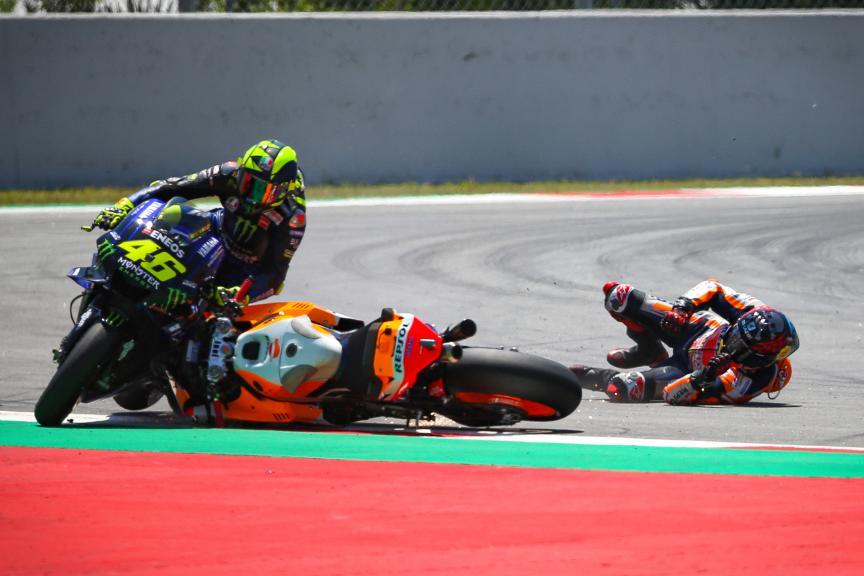 Crash Lorenzo, MotoGP, Race, Gran Premi Monster Energy de Catalunya © Graham Holt
