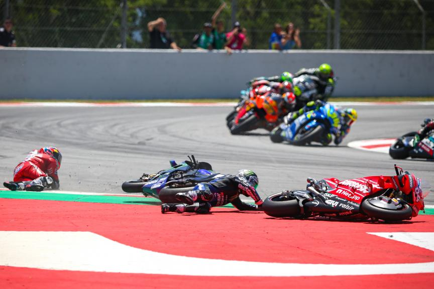 Crash Lorenzo, MotoGP, Race, Gran Premi Monster Energy de Catalunya © Graham Holt