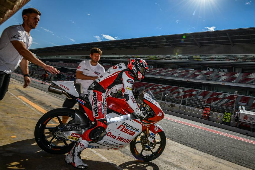 Kaito Toba, Honda Team Asia, Catalunya Moto2™-Moto3™ Test
