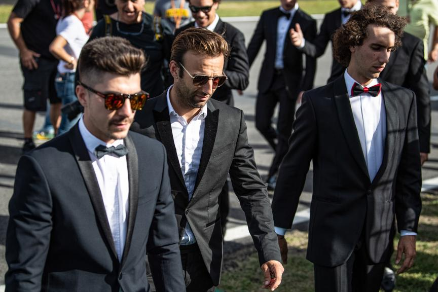 Maverick Vinales, Johann Zarco, MotoGP™ suit up for 70 years celebration