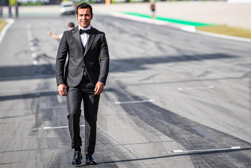 Danilo Petrucci, Mission Winnow Ducati, MotoGP™ suit up for 70 years celebration