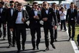 Cal Crutchlow, Maverick Vinales, Valentino Rossi, MotoGP™ suit up for 70 years celebration