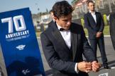 Marc Marquez, Repsol Honda Team, MotoGP™ suit up for 70 years celebration