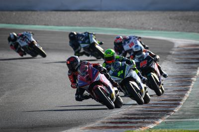 Lights out on the first ever MotoE™ 'race'