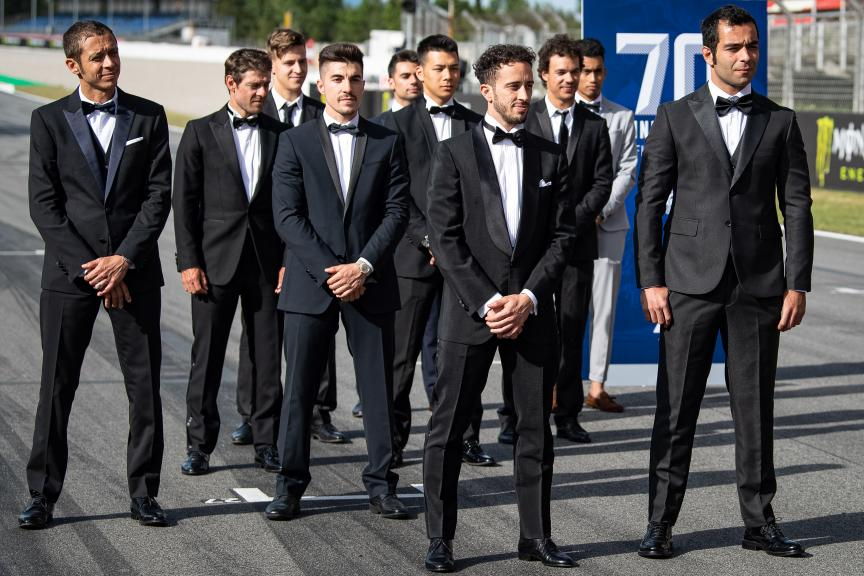 MotoGP™ suit up for 70 years celebration