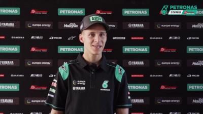 Quartararo analiza las claves de su primer podio en MotoGP™