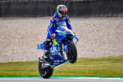 Suzuki firma su mejor sábado y Rins ya sueña con la victoria