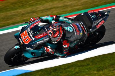 Quartararo sets new lap record to top FP3