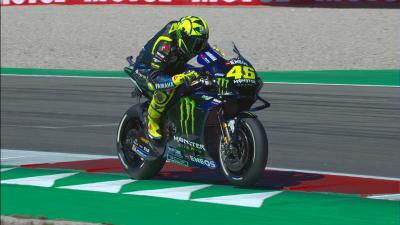 The moment that cost Rossi a place in Q2