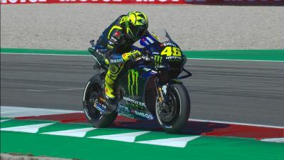 L'erreur qui coûte à Rossi une place en Q2...