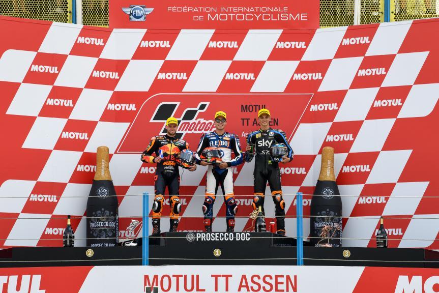 Augusto Fernandez, Brad Binder, Luca Marini, Motul TT Assen