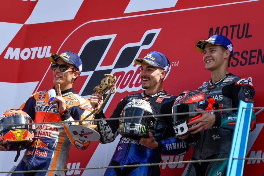 Maverick Vinales, Marc Marquez, Fabio Quartararo, Motul TT Assen