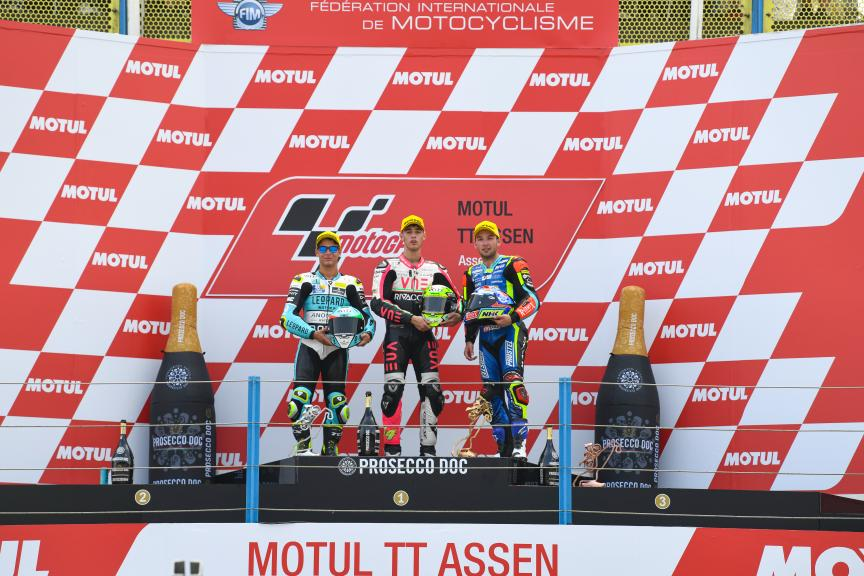 Andrea Migno, Lorenzo Dalla Porta, Jakub Kornfeil, Motul TT Assen