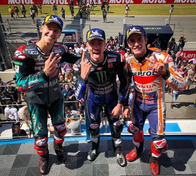 WHAT a race!!! // And here's your #DutchGP podium