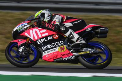 Assen : Arbolino survole le warm-up Moto3™