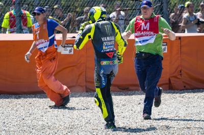 Pas vraiment la fin de week-end qu'espérait Rossi...