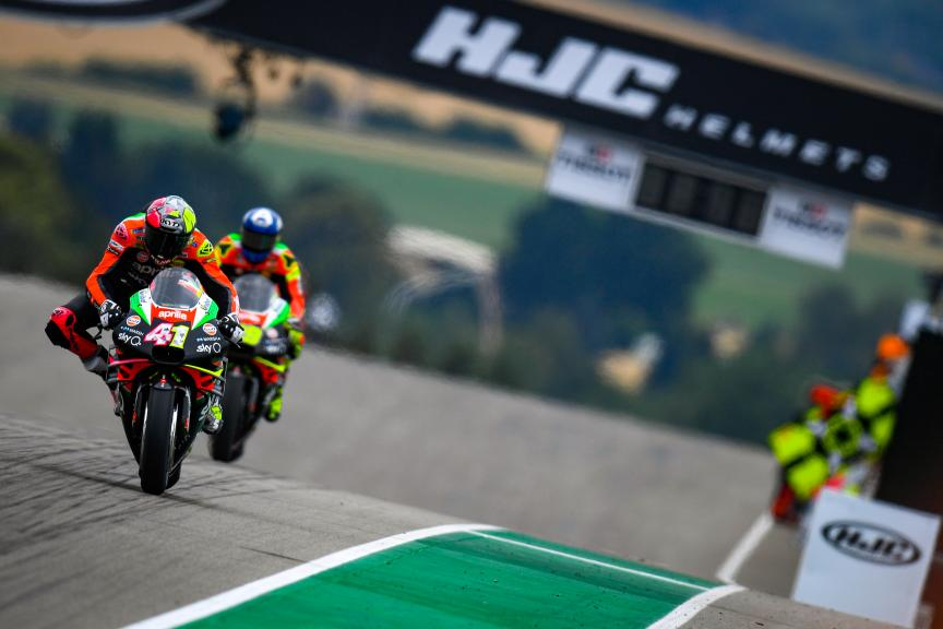 Aleix Espargaro, Aprilia Racing Team Gresini, HJC Helmets Motorrad Grand Prix Deutschland