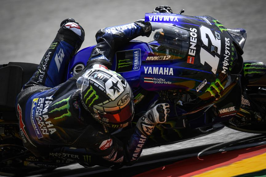 Maverick Vinales, Monster Energy Yamaha MotoGP, HJC Helmets Motorrad Grand Prix Deutschland