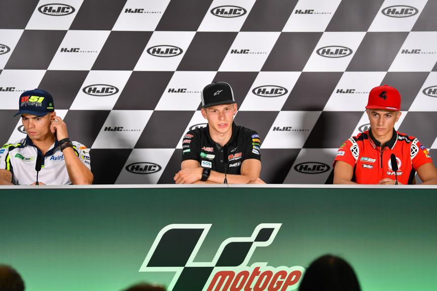 Niki Tuuli, Hector Garzo, Eric Granado, HJC Helmets Motorrad Grand Prix Deutschland