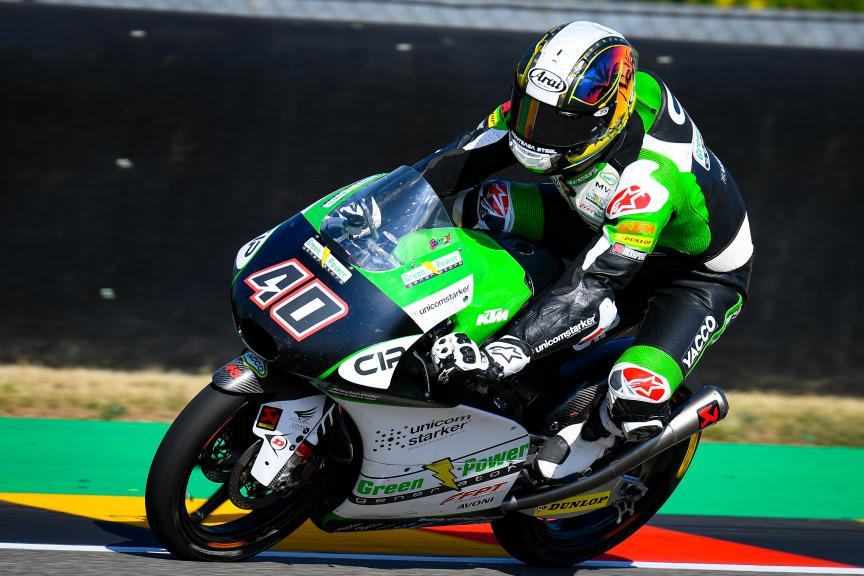 Darryn Binder, CIP Green Power, HJC Helmets Motorrad Grand Prix Deutschland