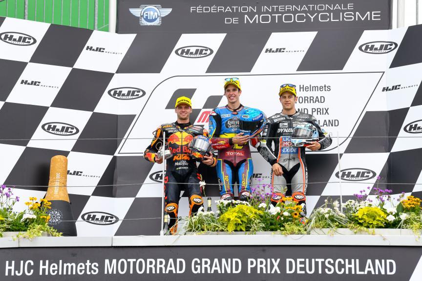Alex Marquez, Brad Binder, Marcel Schrotter, HJC Helmets Motorrad Grand Prix Deutschland