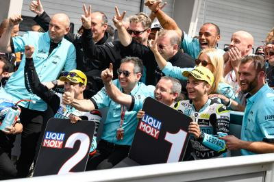 Dalla Porta takes title lead with German GP win
