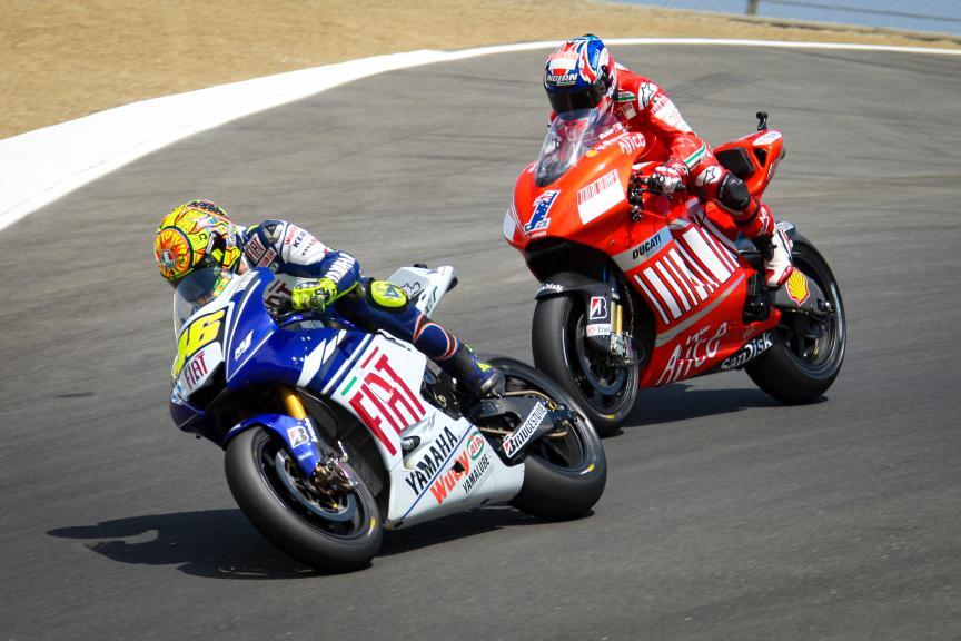 Stoner vs Rossi Laguna 2008