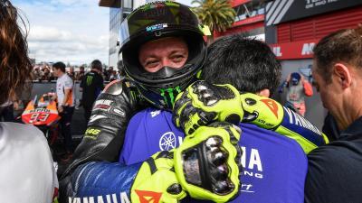 La euforia de Márquez, Rossi y 'Dovi' en Argentina