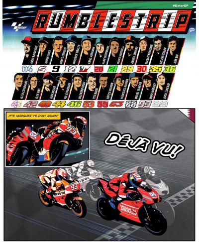 Welcome to the 2019 #MotoGP comic strip! Let the #RumbleStrip
