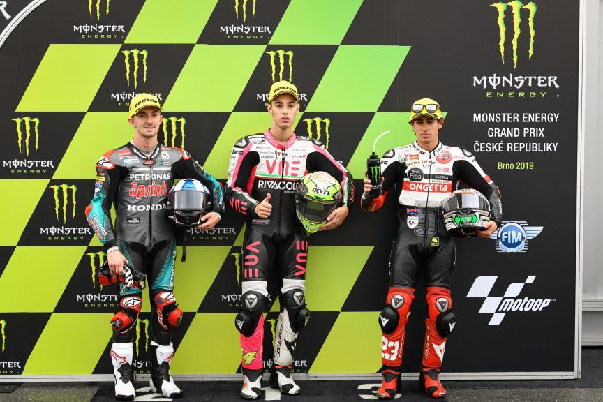 Tony Arbolino, John McPhee, Niccolo Antonelli, Monster Energy Grand Prix České republiky