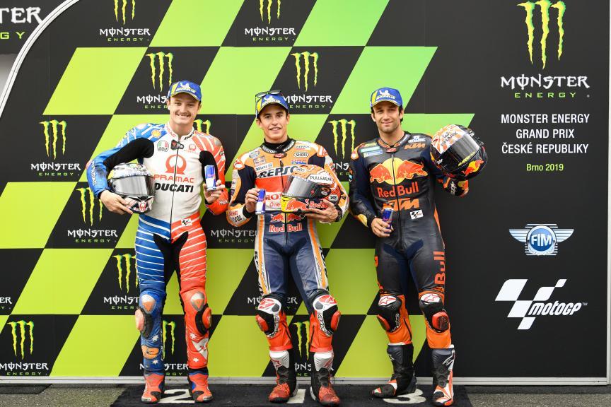 Marc Marquez, Jack Miller, Johann Zarco, Monster Energy Grand Prix České republiky