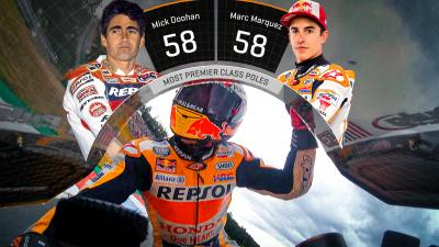 58 not out: Marquez draws level with Doohan