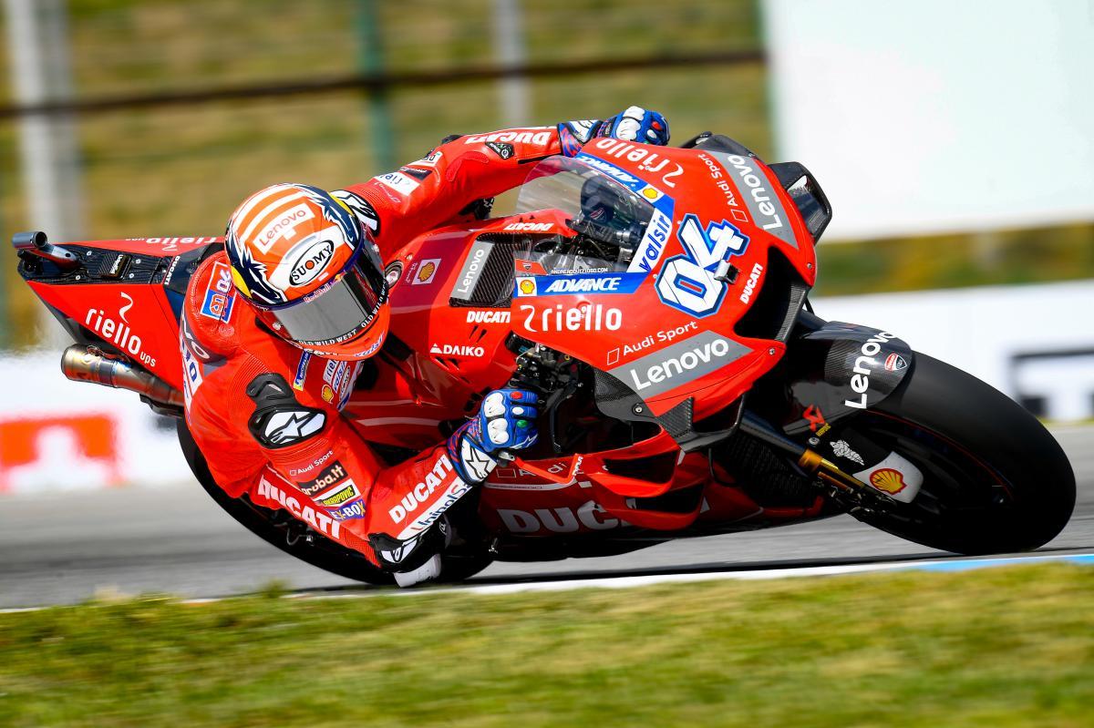 Dovizioso fastest on Sunday morning, poleman Marquez sixth