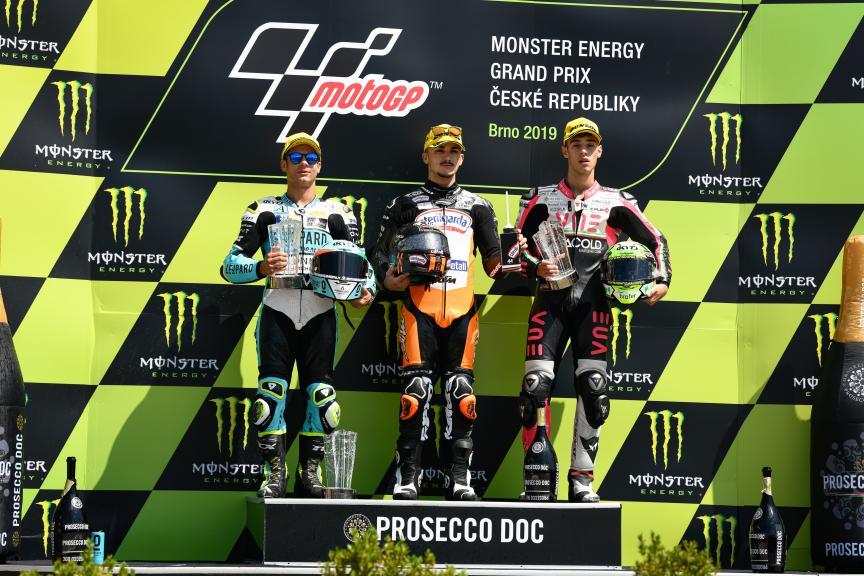 Aron Canet, Lorenzo Dalla Porta, Tony Arbolino, Monster Energy Grand Prix České republiky