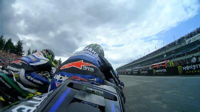 Why did Viñales drop eight places off the line at Brno?