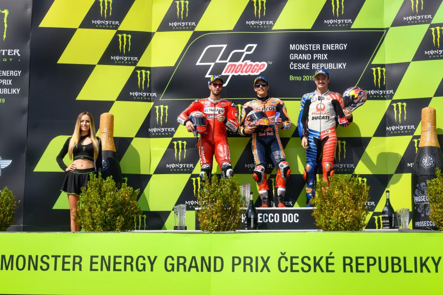 Marc Marquez, Andrea Dovizioso, Jack Miller, Monster Energy Grand Prix České republiky