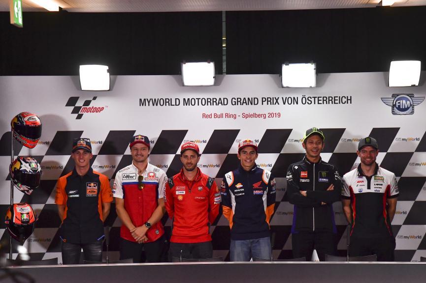 Press-Conference, myWorld Motorrad Grand Prix von Österreich