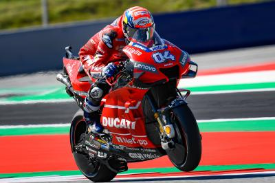 Dovizioso displaces Marquez in Austria FP1
