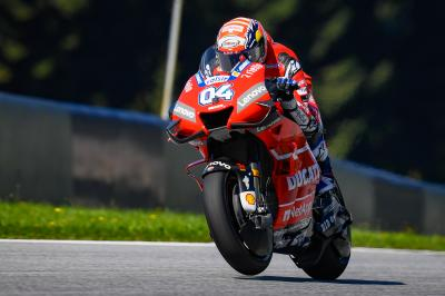 "Upbeat Dovizioso ""very close"" to Marquez' pace"