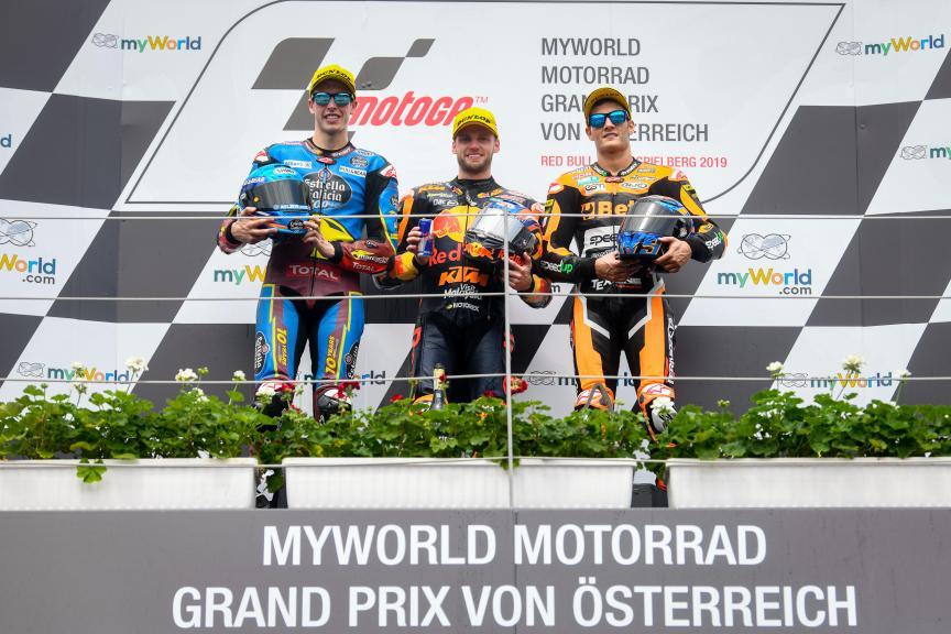 Brad Binder, Alex Marquez, Jorge Navarro, myWorld Motorrad Grand Prix von Österreich