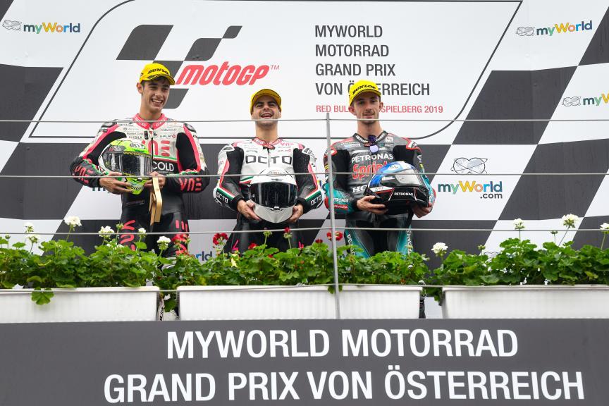 Romano Fenati, Tony Arbolino, John McPhee, myWorld Motorrad Grand Prix von Österreich