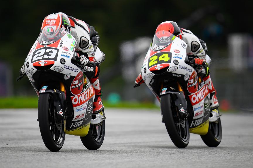 Niccolo Antonelli, Tatsuki Suzuki, SIC58 Squadra Corse, myWorld Motorrad Grand Prix von Österreich