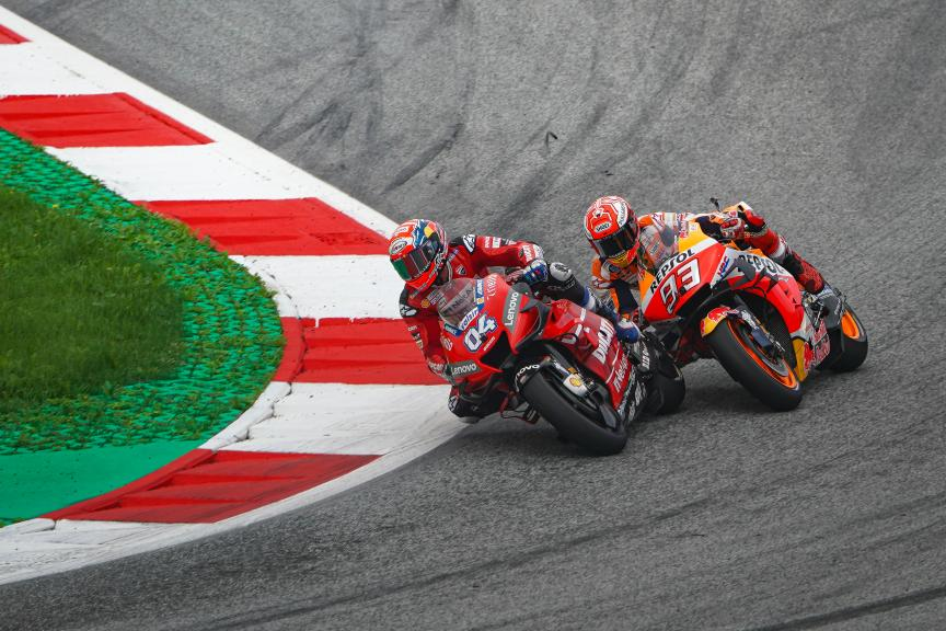 Andrea Dovizioso, Marc Marquez, myWorld Motorrad Grand Prix von Österreich © Alejandro Cerezuela