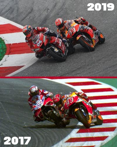 Déjà vu // 2017 vs 2019 #AustrianGP @andreadovizioso's winning overtake