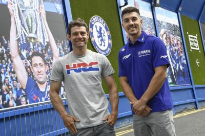 @calcrutchlow and @maverick12official visit Stamford Bridge