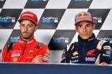 Andrea Dovizioso, Marc Marquez, GoPro British Grand Prix