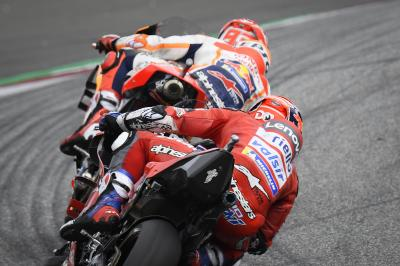 How many times did Marquez & Dovizioso watch the last race?