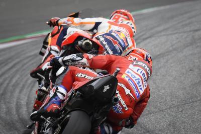 ¿Cuántas veces han visto 'Dovi' y Márquez la última carrera?